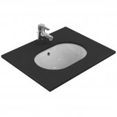 Ideal Standard Connect - Undercounter washbasin 480x350mm without tap holes with overflow hvid with IdealPlus