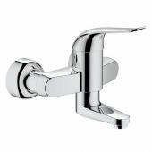GROHE Euroeco Special - Et-grebs håndvaskarmatur til vægmonteret med fremspring 157 mm uden bundventil chrom