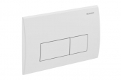 Geberit Kappa50 - Flush Plate for WC and 2 flushes chrome silk gloss / chrome silk gloss