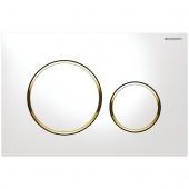 Geberit Sigma20 - Betätigungsplatte für 2-Mengen-Spülung weiß / vergoldet / weiß