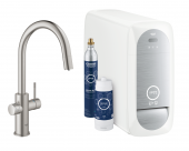 Grohe Blue Home - Starter Kit Mousseur Bluetooth/WIFI C-Auslauf supersteel 1