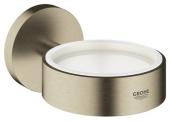 Grohe Essentials - Halter für Becher Seifenschale / Seifenspender nickel gebürstet