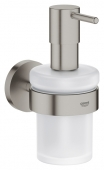 Grohe Essentials - Seifenspender mit Halter supersteel
