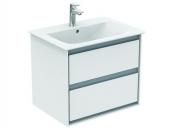 Ideal Standard Connect Air - Möbelwaschtisch 640 x 460 mm mit Überlauf und 1 Hahnloch weiß