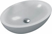 Ideal Standard Strada O - Countertop Washbasin for Console 600x420mm without tap holes without overflow hvid with IdealPlus