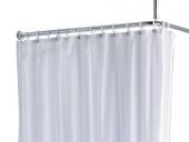 Keuco Plan - Shower Curtain stripes 14944 11 eyelets, truffle / white, 2000 x 2000 mm