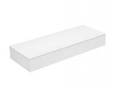 Keuco Edition 400 - Sideboard 1 Auszug weiß / Glas weiß klar