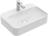 Villeroy & Boch Finion - Aufsatzwaschtisch 4142 600 x 445 mm ohne Überlauf weiß alpin CeramicPlus
