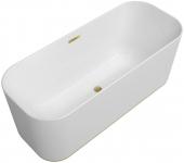 Villeroy & Boch Finion - Badewanne Ventil Überlauf Design-Ring gold white alpin