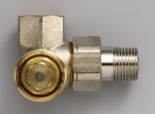Zehnder - Ventilkörper AV6 XA M30x1,5 1/2''''Winkeleckform rechts, vernickelt''