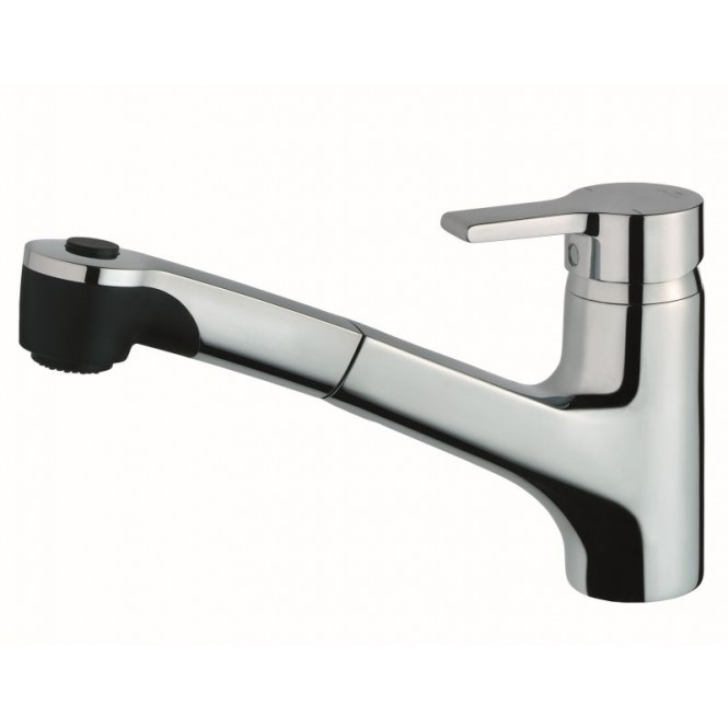 Ideal Standard Active - Single lever kitchen mixer with pull-out spray krom
