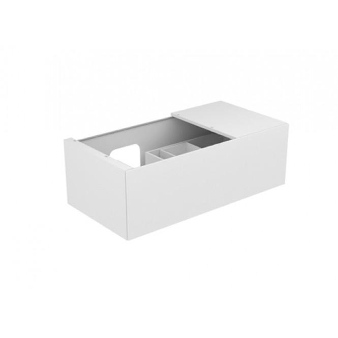 Keuco Edition 11 - Vanity unit 31153, 1 pan drawer, with lighting, white Hochgl. / White Hochgl.