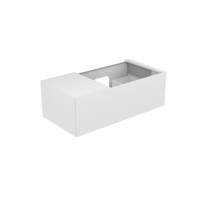 Keuco Edition 11 - Vanity unit 31154, 1 front pull, white high gloss / white high gloss