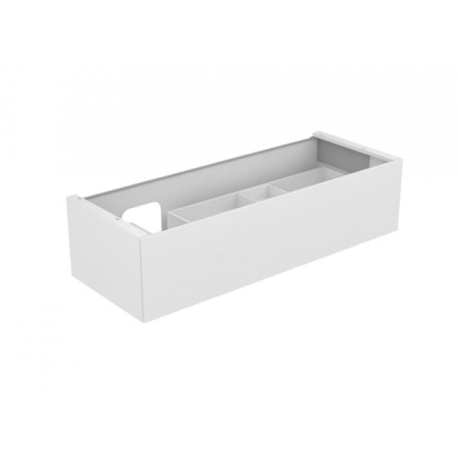Keuco Edition 11 - Vanity unit 31265, 1 drawer with lighting, white high gloss / white high gloss