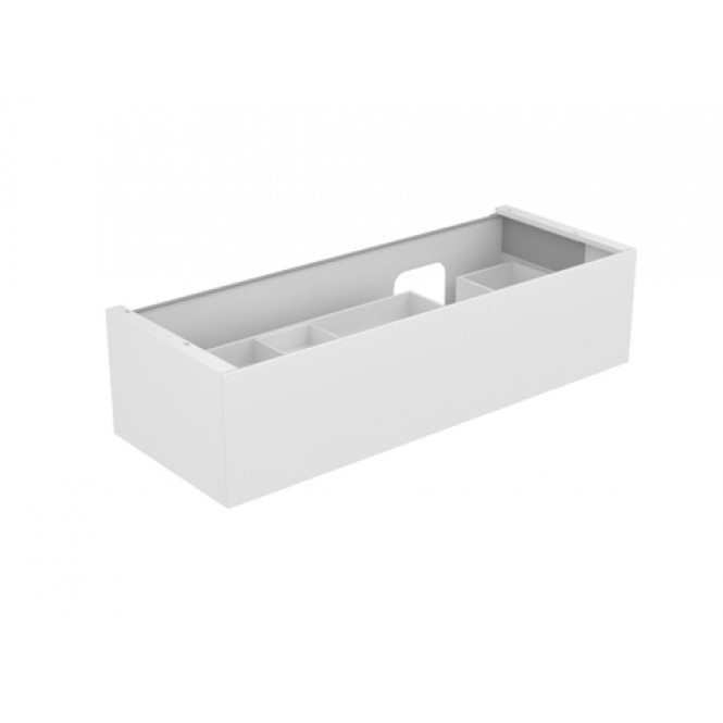 Keuco Edition 11 - Vanity unit 31266, 1 drawer with lighting, white high gloss / white high gloss