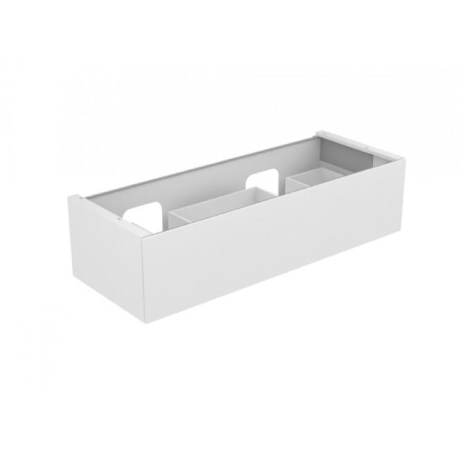 Keuco Edition 11 - Vanity unit 31267, 1 drawer with lighting, white high gloss / white high gloss