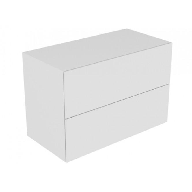 Keuco Edition 11 - Sideboard 31325 2 Front-Auszüge weiß / Glas weiß satiniert