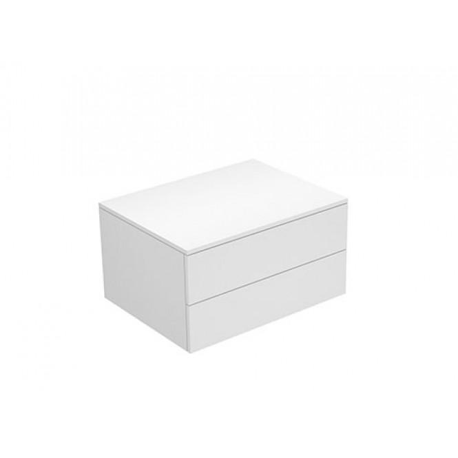 Keuco Edition 400 - Sideboard weiß hochglanz / Glas anthrazit klar