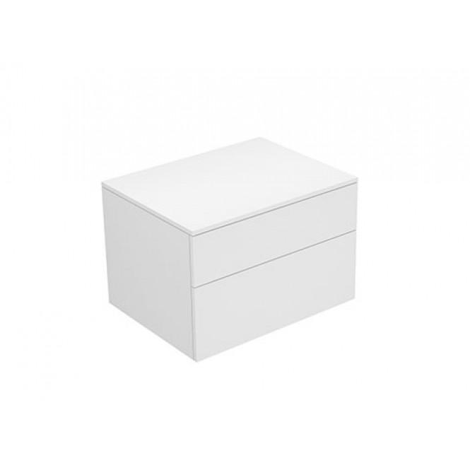 Keuco Edition 400 - Sideboard weiß / Glas cashmere satiniert