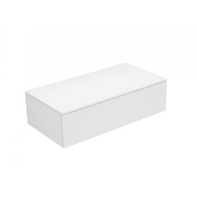 Keuco Edition 400 - Sideboard 1 Auszug weiß hochglanz / Glas trüffel klar