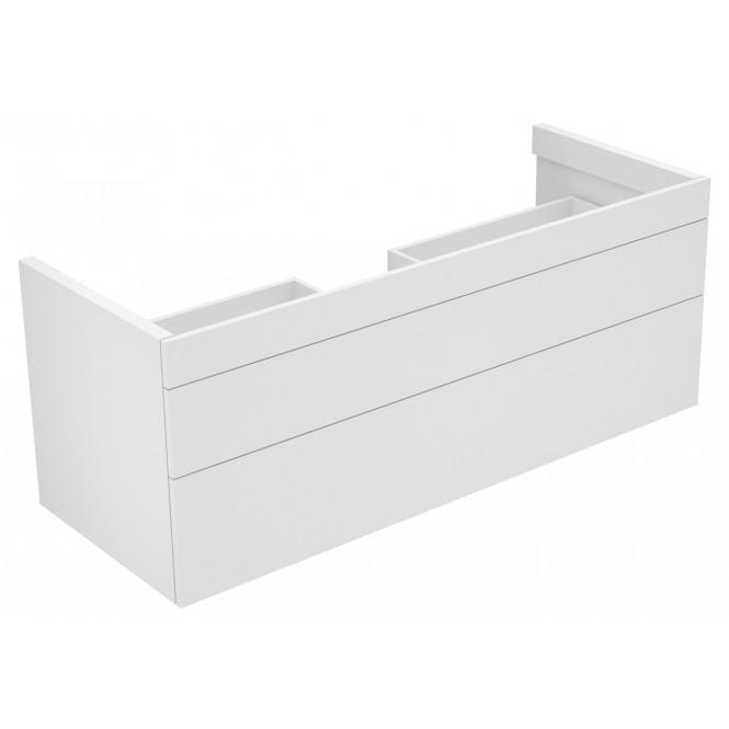 Keuco Edition 400 - Waschtischunterbau 2 Frontauszüge weiß / weiß