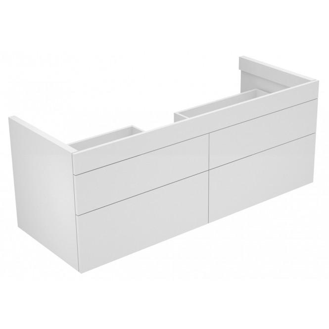 Keuco Edition 400 - Waschtischunterbau 4 Frontauszüge weiß / weiß