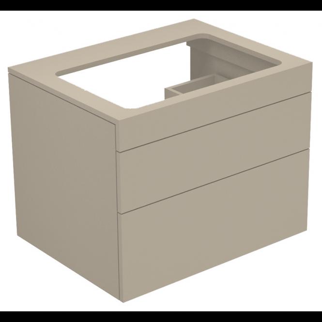 Keuco Edition 400 - Waschtischunterbau cashmere / Glas cashmere klar