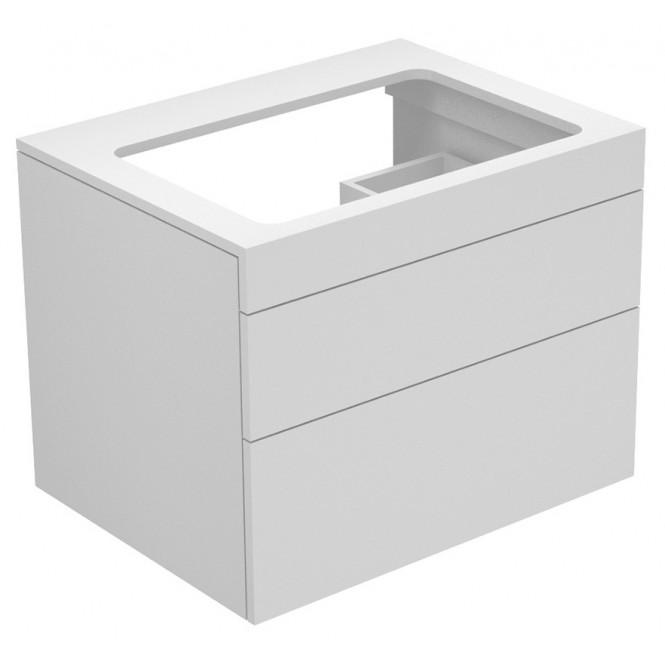 Keuco Edition 400 - Waschtischunterbau weiß / Glas anthrazit satiniert