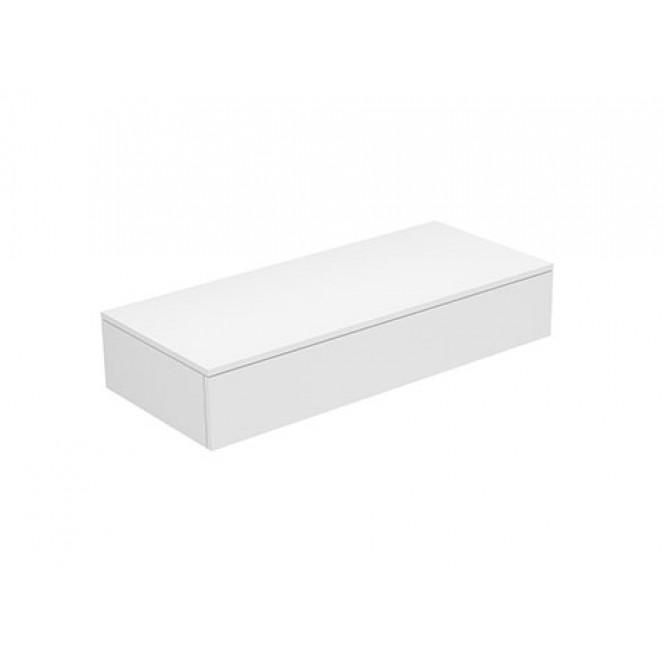 Keuco Edition 400 - Sideboard 1 Auszug weiß / Glas trüffel satiniert