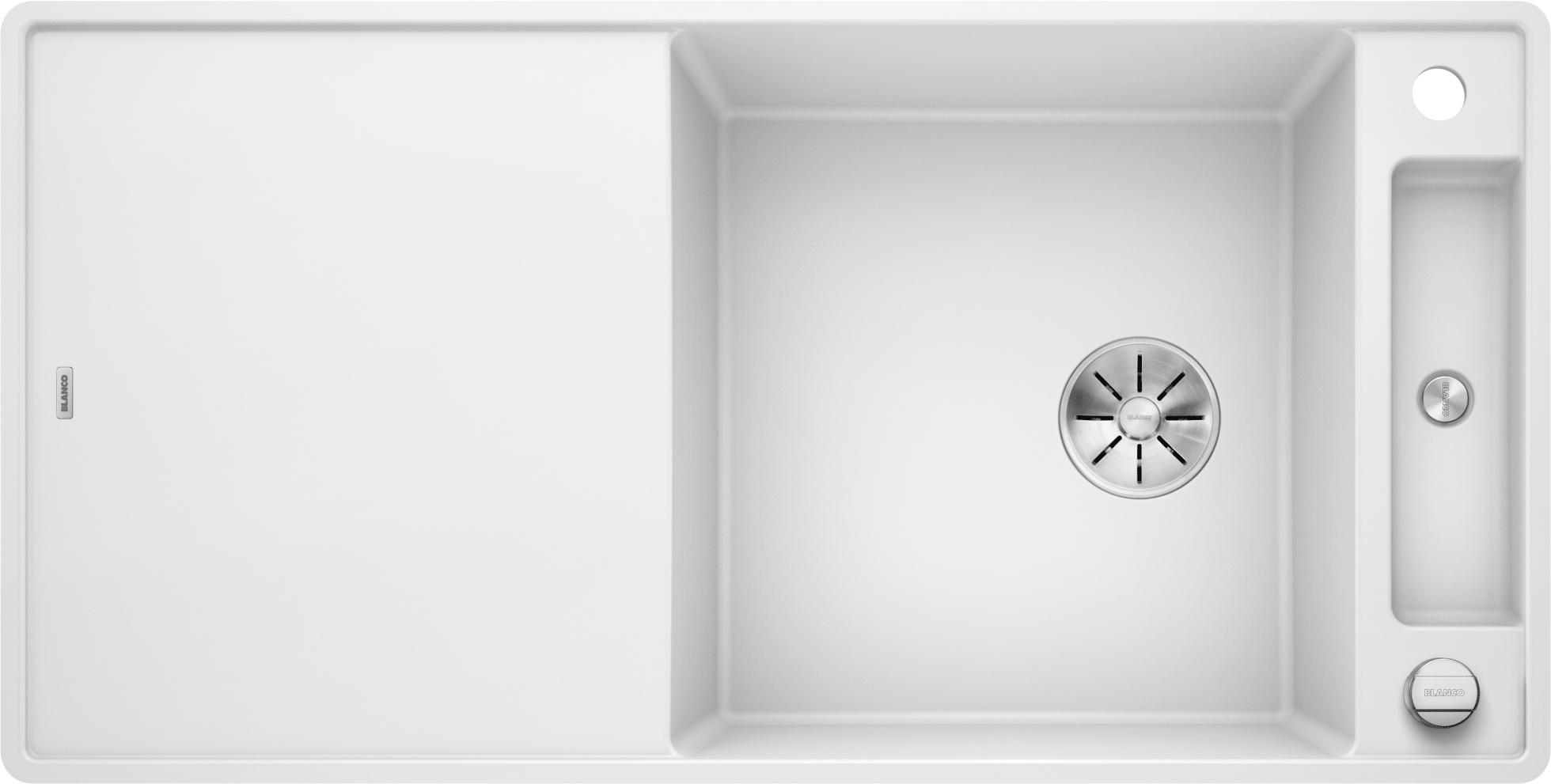 Blanco Axia Iii Spule Xl 6 S F Silgranit Puradur Mit Ablauffernbedienung Reversibel Weiss
