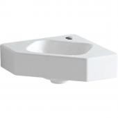 Geberit iCon xs - Eckhandwaschbecken 330 mm mit Hahnloch ohne Überlauf weiß mit KeraTect