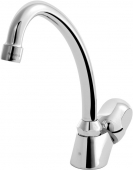 Ideal Standard Alpha - Pillar tap M-Size with Swivel Spout utan bottenventil krom