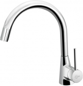 Ideal Standard Nora - Single lever kitchen mixer with pull-out spray krom