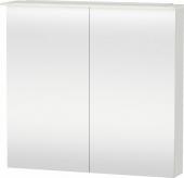 Duravit X-Large - Spiegelschrank 138x800x760mm 2 Spiegeltüren LED betongrau matt