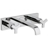 GROHE Allure - Tvättställsblandare 3-hålsarmatur för väggmontering med ett utsprång på 172 mm utan bottenventil krom