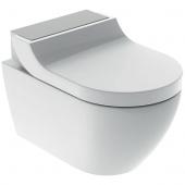 Geberit AquaClean Tuma Comfort - WC-Komplettanlage Wand-WC edelstahl gebürstet