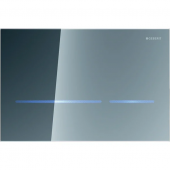 Geberit Sigma80 - WC-Steuerung für 2-Mengen-Spülung Glas verspiegelt