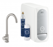 Grohe Blue Home - Mono Starter Kit Bluetooth/WIFI C-Auslauf supersteel 1