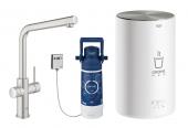 Grohe Red - Einhand-Küchenarmatur DUO mit Boiler M-Size und L-Auslauf supersteel 1