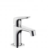 Hansgrohe Axor Citterio M - Einhebel-Waschtischmischer mit Zugstangen-Ablaufgarnitur für Handwaschbecken