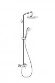 Hansgrohe Croma Select E 180 - 2jet Showerpipe mit Einhebelmischer