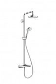 Hansgrohe - Croma Select S 180 2jet Showerpipe EcoSmart weiß / chrom