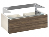 Keuco Edition 300 - Vanity unit 30384, 2 front drawers, white Hochgl. / Anthracite