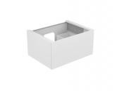 Keuco Edition 11 - Vanity unit 31241, 1 front pull white high gloss / white high gloss