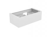Keuco Edition 11 - Vanity unit 31254, 1 front pull white high gloss / white high gloss #