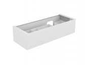 Keuco Edition 11 - Vanity unit 31266, 1 front pull anthracite / glass anthracite