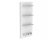 Keuco meTime_spa - Concealed thermostatic bathtub / shower mixer för 3 konsumenter clear truffle / chrome