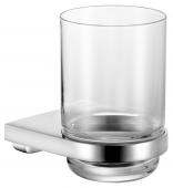 Keuco Collection Moll - Glashalter komplett mit Echtkristall-Glas