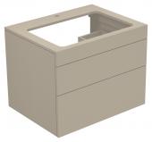 Keuco Edition 400 - Waschtischunterbau mit Hahnlochbohrung cashmere / Glas cashmere klar