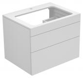 Keuco Edition 400 - Waschtischunterbau mit Hahnlochbohrung cashmere / Glas cashmere satiniert